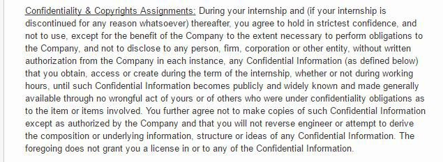 Internships and NonDisclosure Agreements EveryNDA – Confidentiality Statement