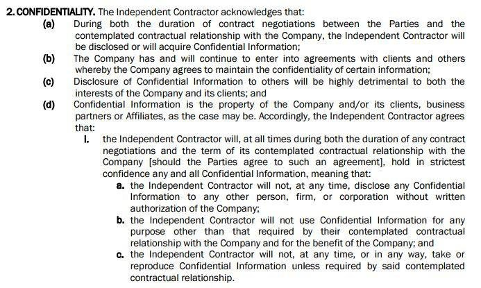 Use A Nda With Independent Contractor Agreements Everynda