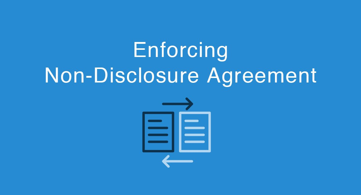 Enforcing The Non Disclosure Agreement Everynda