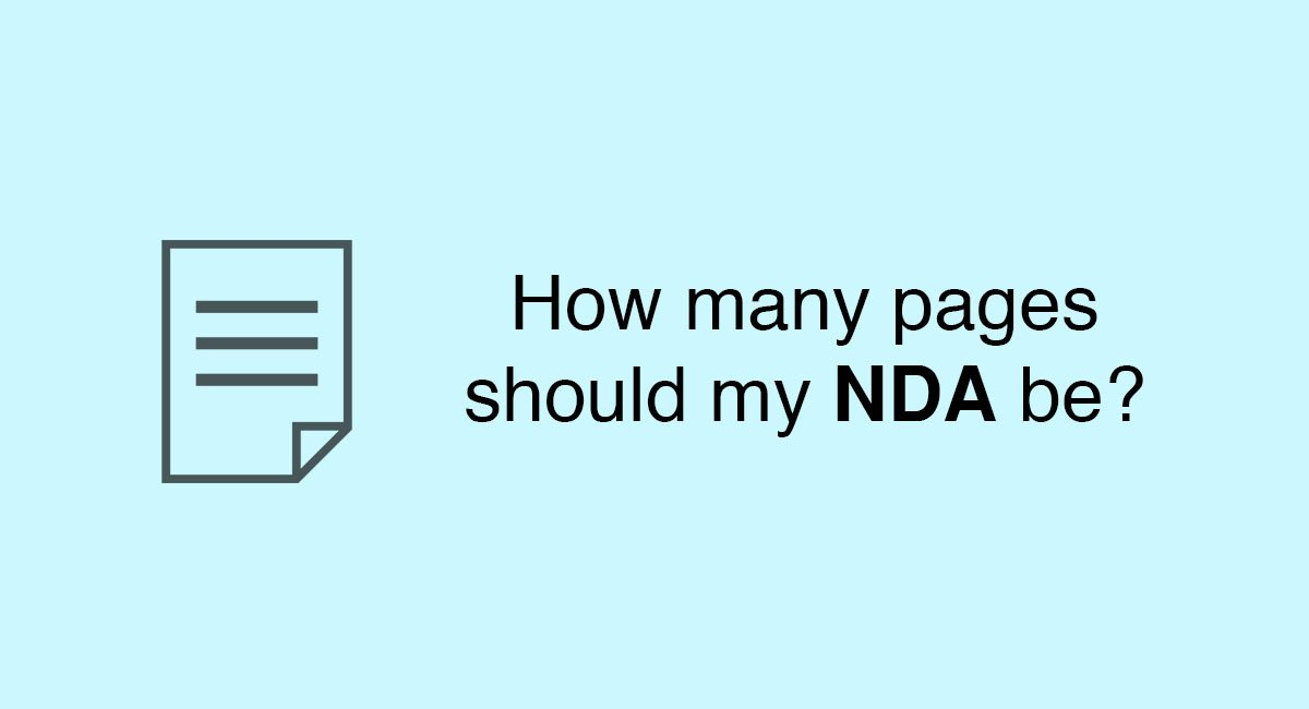 How many pages should my NDA be?