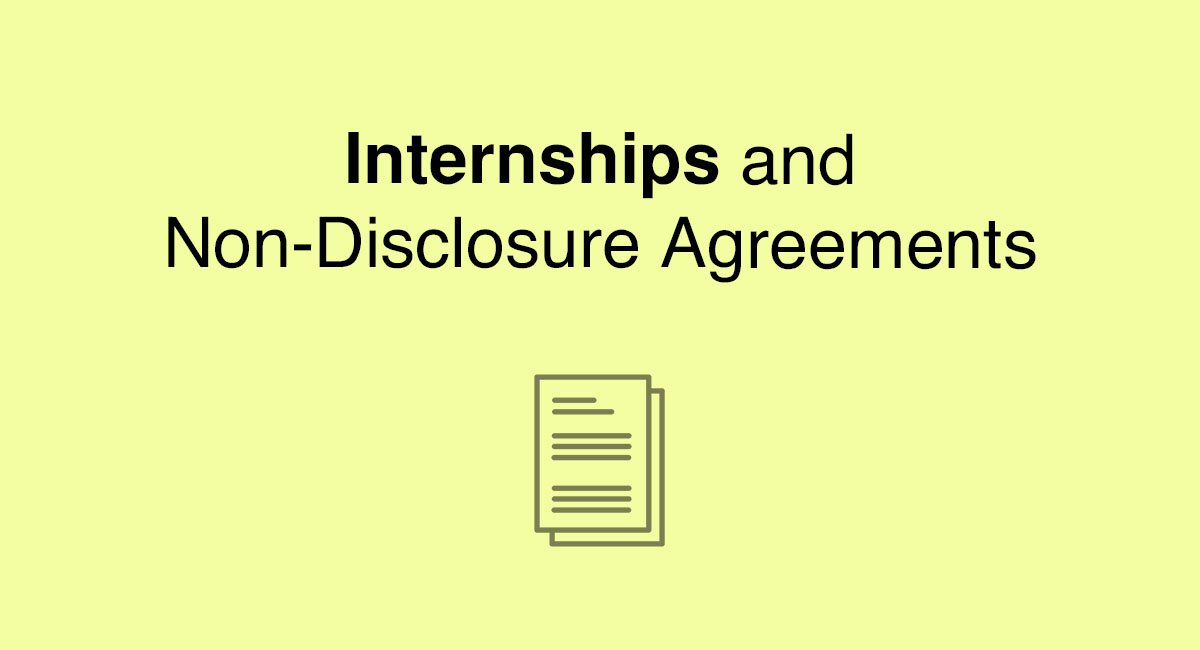 Internships And NonDisclosure Agreements  Everynda