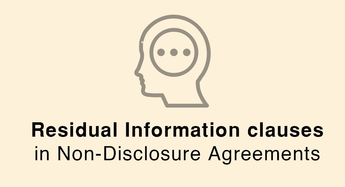 Residual Information clauses in Non-Disclosure Agreements