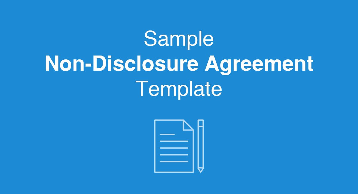 sample non-disclosure agreement template
