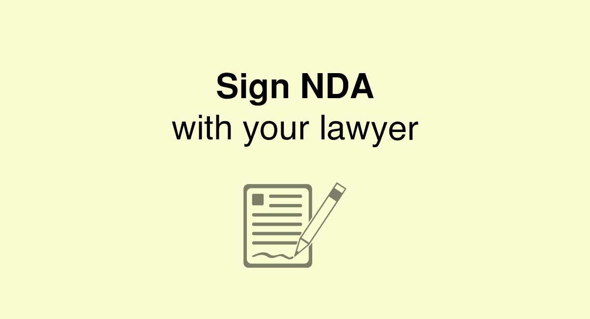 Do you need to sign a nda with your lawyer everynda do you need to sign a nda with your lawyer spiritdancerdesigns Choice Image