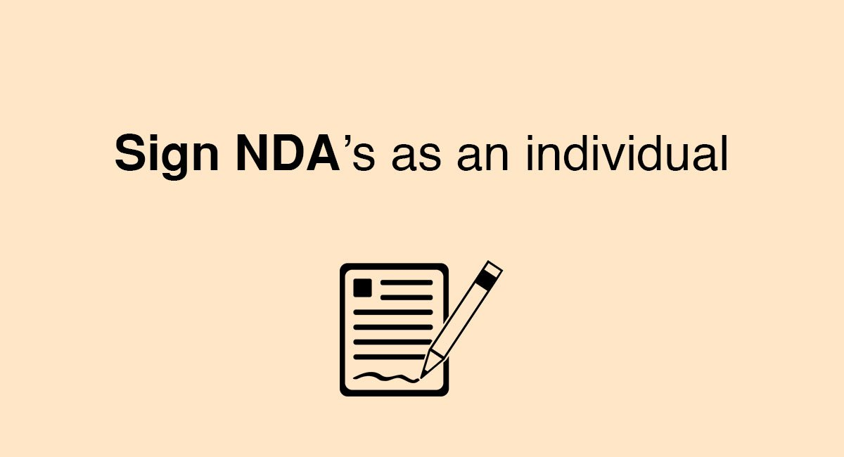 Sign Ndas As An Individual Everynda