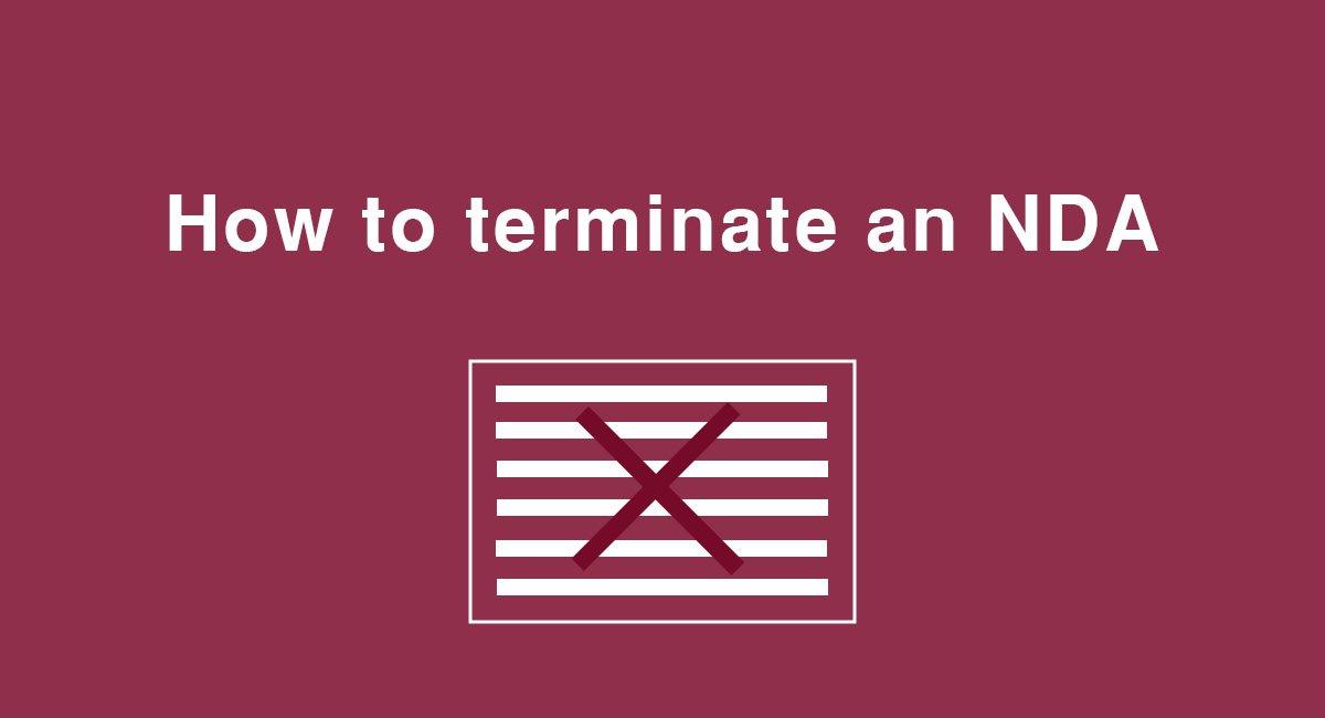 How to terminate an NDA